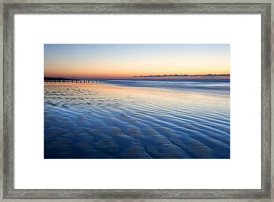 Blue Beach Framed Print by Matthew Gibson