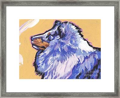 Blue Beauty Framed Print by Lea S