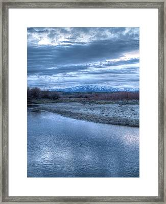 Framed Print featuring the photograph Blue Before The Sun by Jenessa Rahn