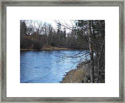 Blue Bend Framed Print by Jewel Hengen