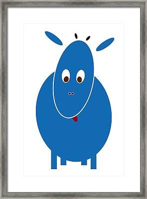 Blue Bestia Framed Print by Frank Tschakert