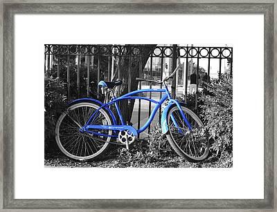 Blue Bike Framed Print by Alex King