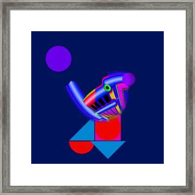 Blue Bird Framed Print by Charles Stuart