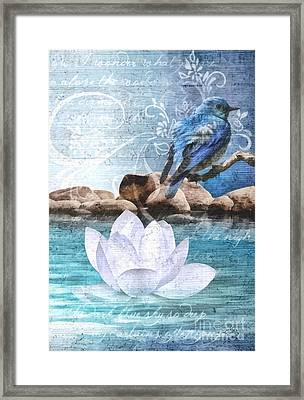 Blue Bird Framed Print by Mo T