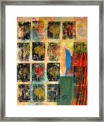 Blue Bird Framed Print by Patricia Januszkiewicz