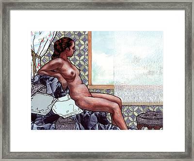 Blue Bliss Framed Print