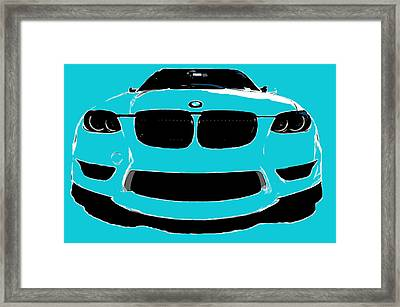Blue Bmw Framed Print