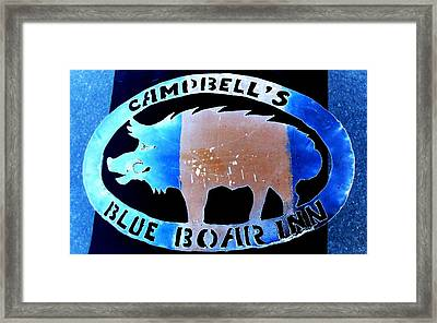 Blue Boar Inn II Framed Print by Larry Campbell