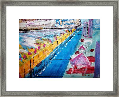 Blue Boardwalk Framed Print