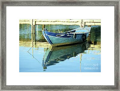 Blue Boat 01 Framed Print by Rick Piper Photography