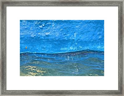 Blue Boat Abstract Framed Print by David Letts
