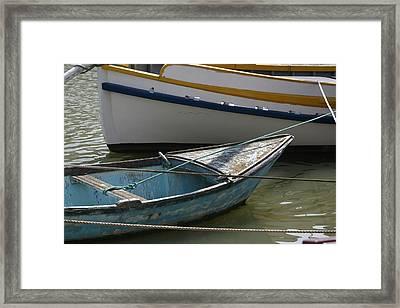 Blue Boat Camargue Framed Print