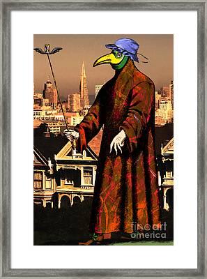Blue Bonnet Plague Doctor Of San Francisco Alamo Square 20140306 Framed Print