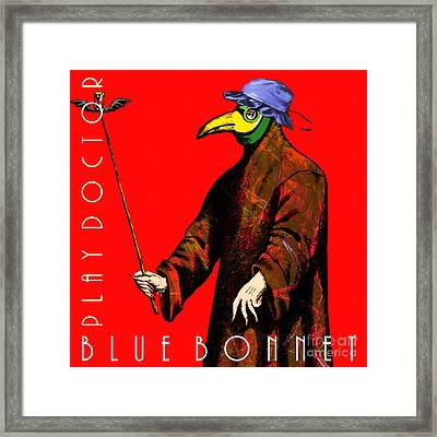 Blue Bonnet Play Doctor 20140306 Square With Text Framed Print by Wingsdomain Art and Photography