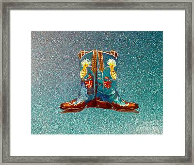 Blue Boots Framed Print