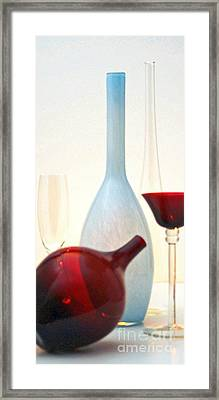 Framed Print featuring the photograph Blue Bottle by Elf Evans