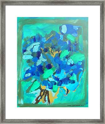 Blue Bouquet Framed Print by Harry Hartshorne Jr