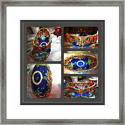 Blue Bowl Framed Print