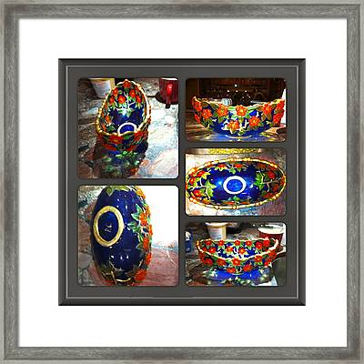 Blue Bowl Framed Print by Rae Chichilnitsky