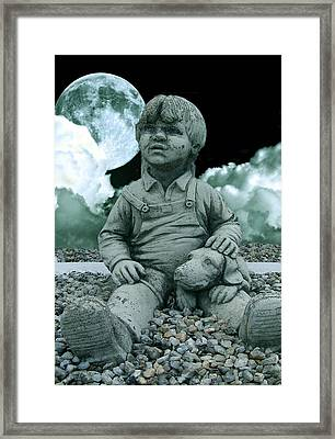 Framed Print featuring the photograph Blue Boy By The The Blue Moon by Allen Beilschmidt
