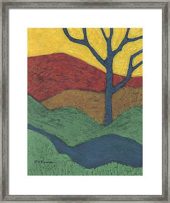 Blue Branches Framed Print