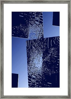 Blue Breaking Framed Print by Mario Perez