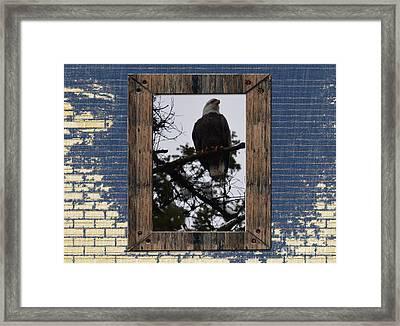Blue Brick Framed Print by Greg Patzer