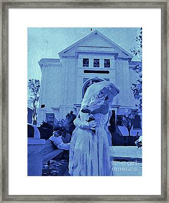 Blue Bride Framed Print by John Malone