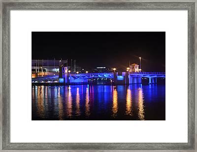 Blue Bridge Framed Print by Victoria Clark