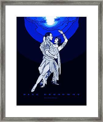 Blue Broadway Framed Print