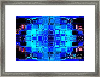 Blue Bubble Glass Framed Print by Anita Lewis