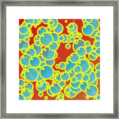 Blue Bubbles Framed Print by Gaspar Avila