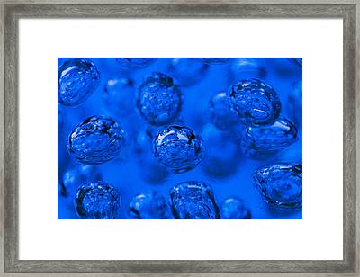 Blue Bubbles Framed Print by Scott Campbell