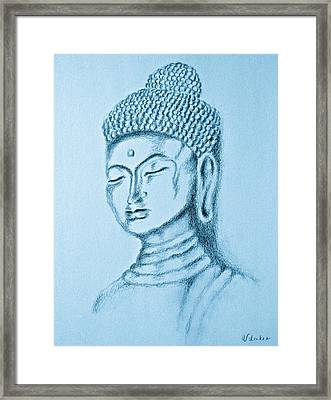 Blue Buddha Framed Print by Victoria Lakes