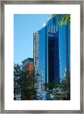 Blue Building Framed Print