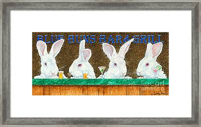 Blue Buns Bar And Grill... Framed Print by Will Bullas