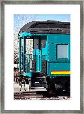 Blue Caboose Framed Print