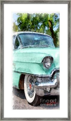 Blue Caddy Phone Case Framed Print
