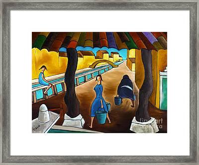 Blue Canal  Framed Print
