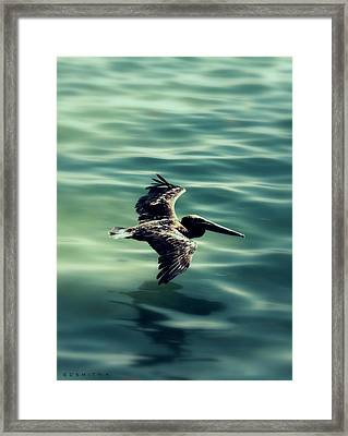 Blue Canvas Framed Print by Ed Smith