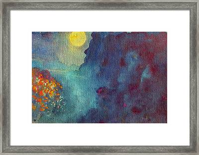Blue Canyon Full Moon Framed Print by Studio Tolere