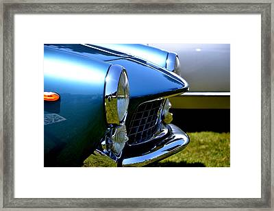 Framed Print featuring the photograph Blue Car by Dean Ferreira