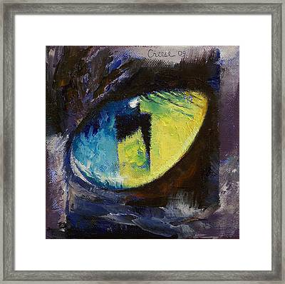 Blue Cat Eye Framed Print by Michael Creese