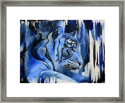 Blue Cat Framed Print