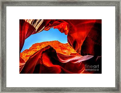 Blue Ceiling Framed Print by Az Jackson