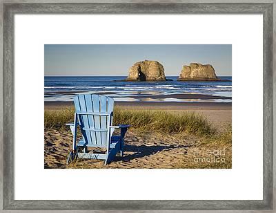 Blue Chair Framed Print by Brian Jannsen
