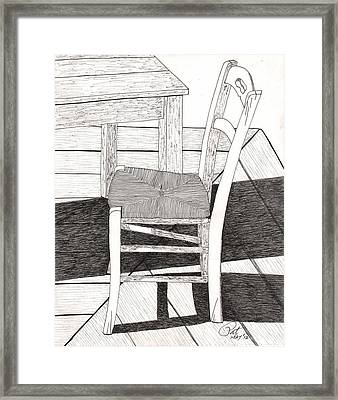 Blue Chair Framed Print by Pat Price