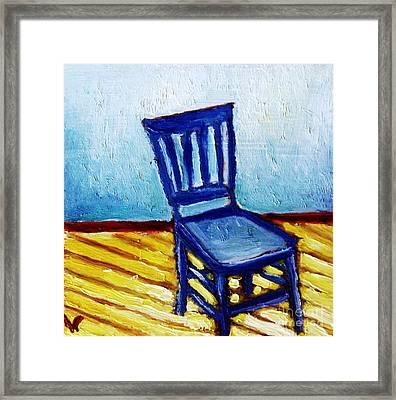 Blue Chair Framed Print by Venus