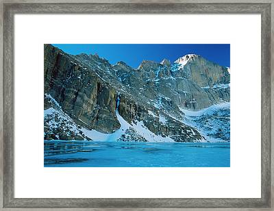 Blue Chasm Framed Print