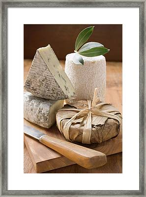 Blue Cheese And Goat's Cheese Framed Print
